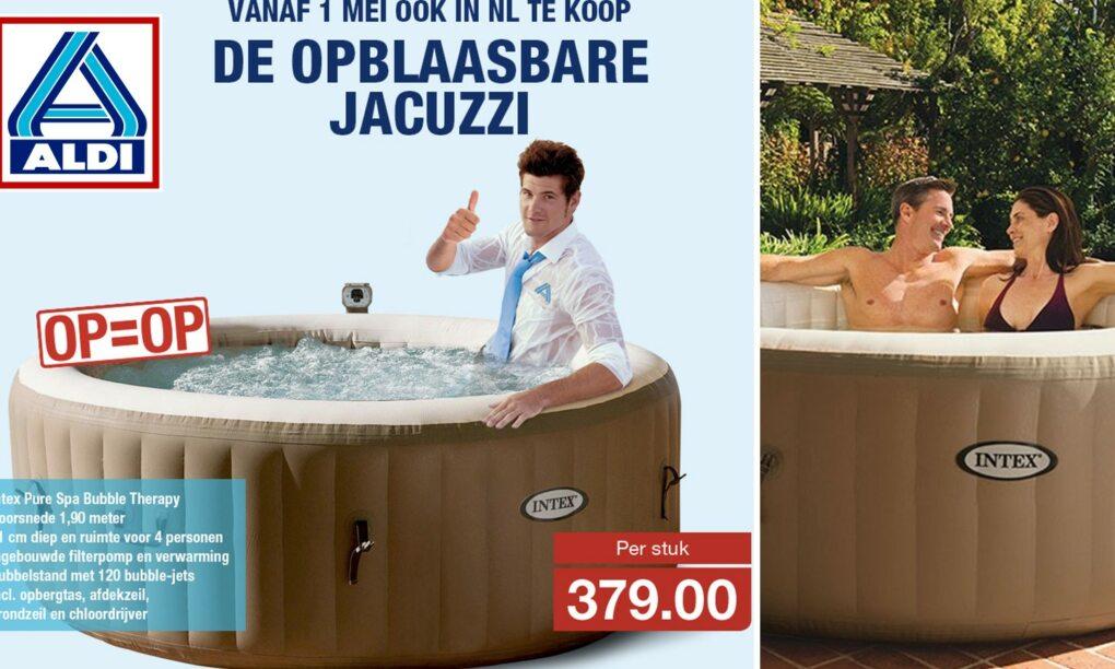 Opblaasbare jacuzzi dan toch echt te koop bij Aldi