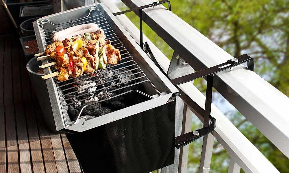 hebben een barbecue voor aan je balkon