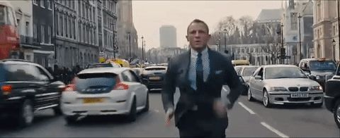 james bond running gap