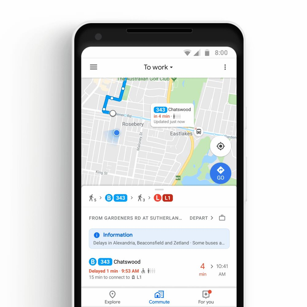google maps realtime bussen en treinen gap