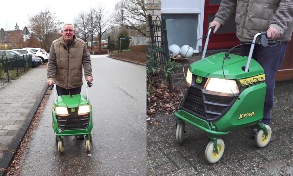 Jan heeft zijn pa een retedikke rollator gegeven voor zijn 75ste verjaardag