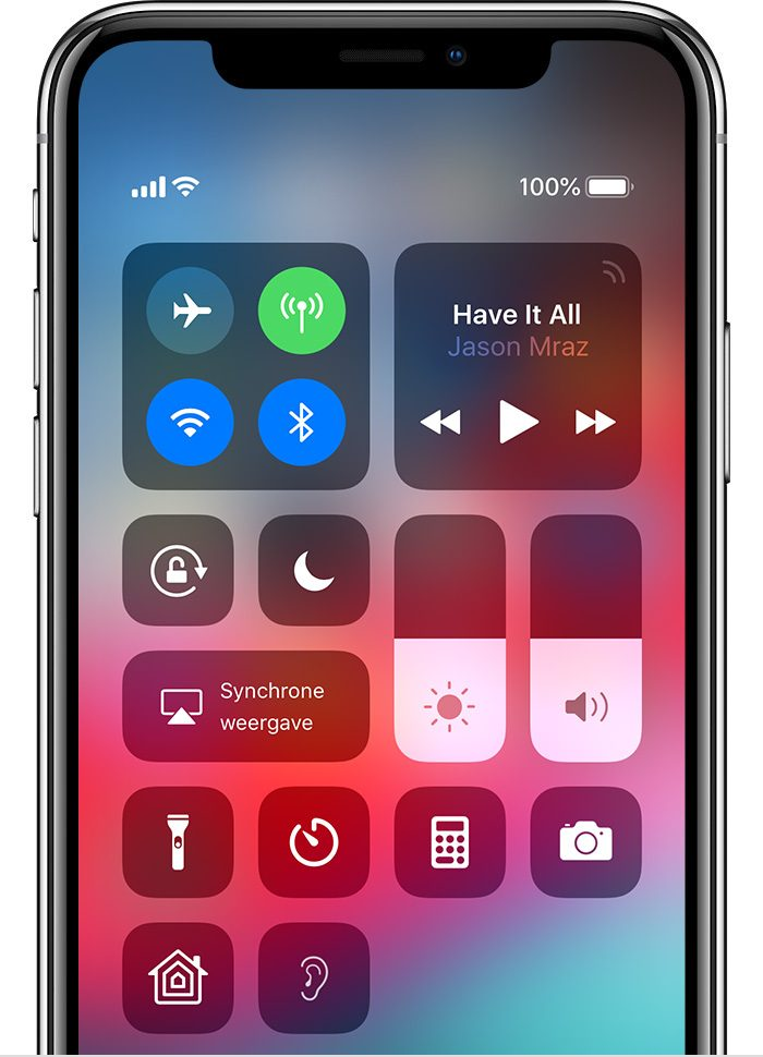 ios12 iphone x control center hearing live listen