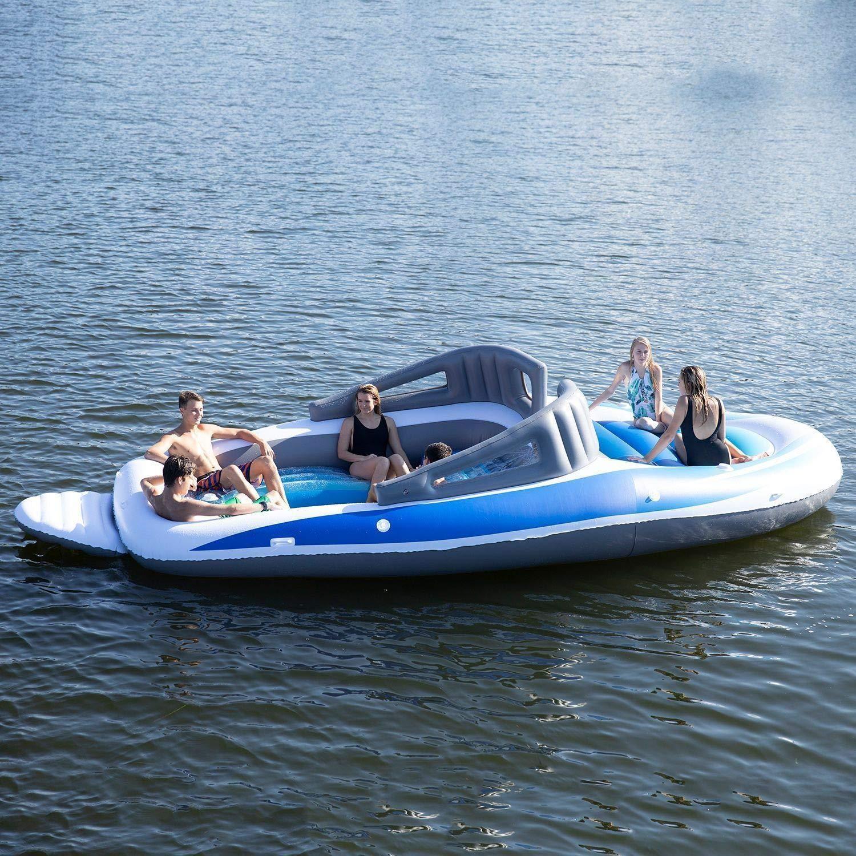 Amazon verkoopt een opblaasbare speedboot met ingebouwde bierkoeler 2