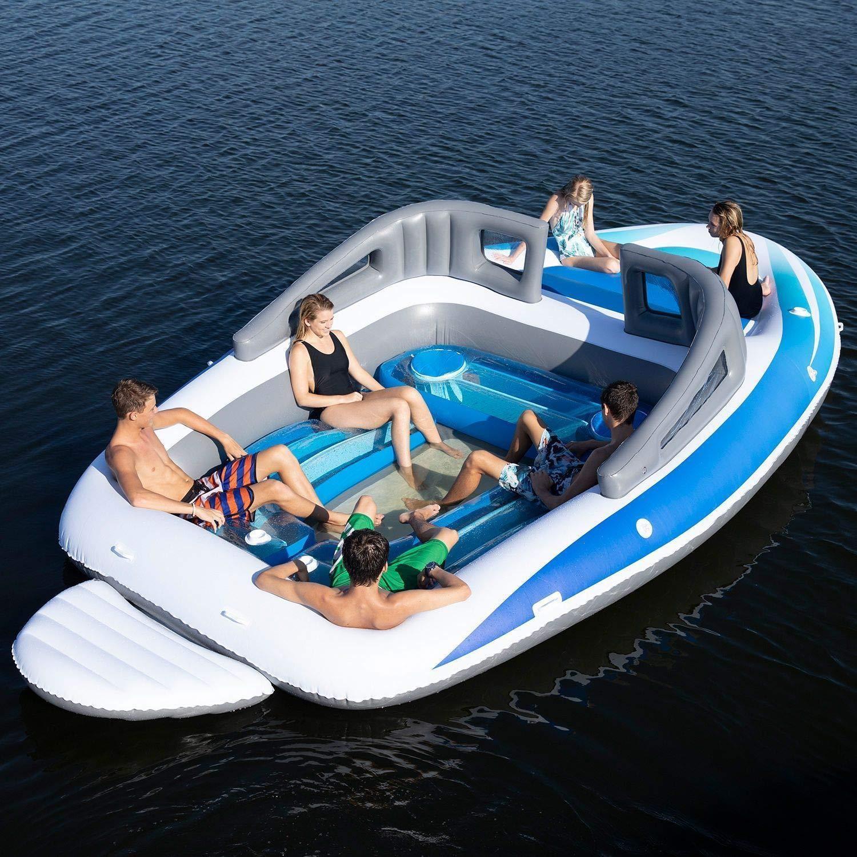 Amazon verkoopt een opblaasbare speedboot met ingebouwde bierkoeler 3