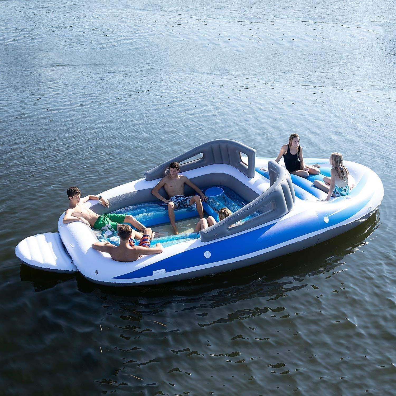 Amazon verkoopt een opblaasbare speedboot met ingebouwde bierkoeler 7