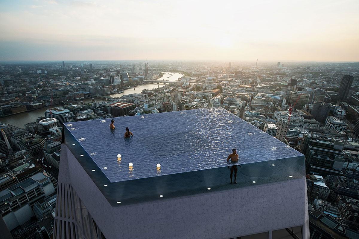 Deze wolkenkrabber in Londen is de eerste met een 360 graden infinity pool01