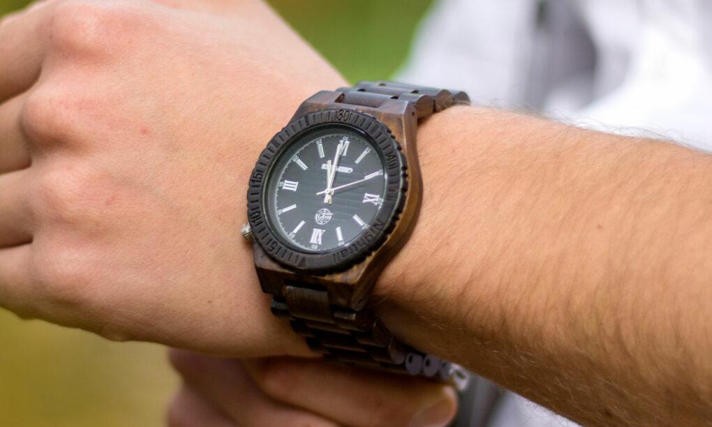 houten horloge heren
