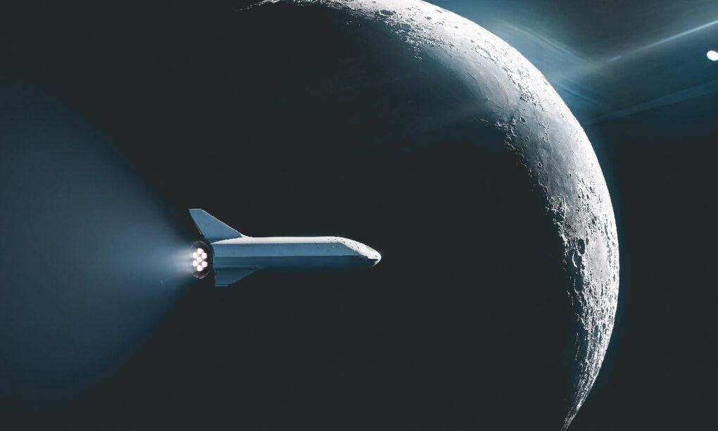 Vanaf 2021 kun je voor 50 miljoen met SpaceX een retourtje naar de maan boeken