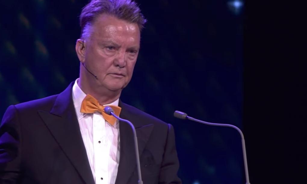 De speech van Louis van Gaal op het voetbalgala is ultiem terugkijkmateriaal