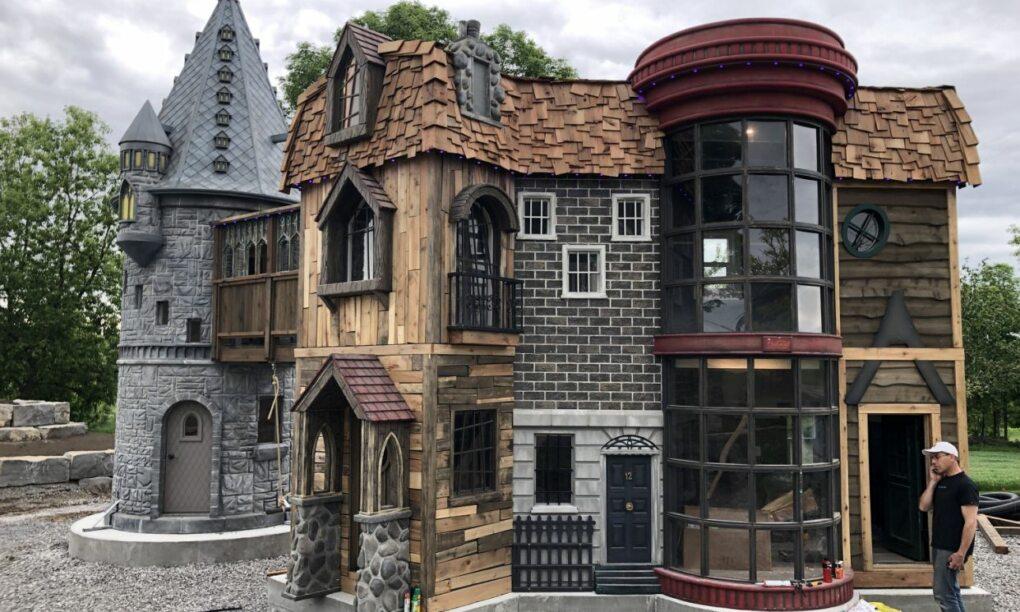 Deze opa en oma maakten een enorm Harry Potter huis voor hun kleinkind1