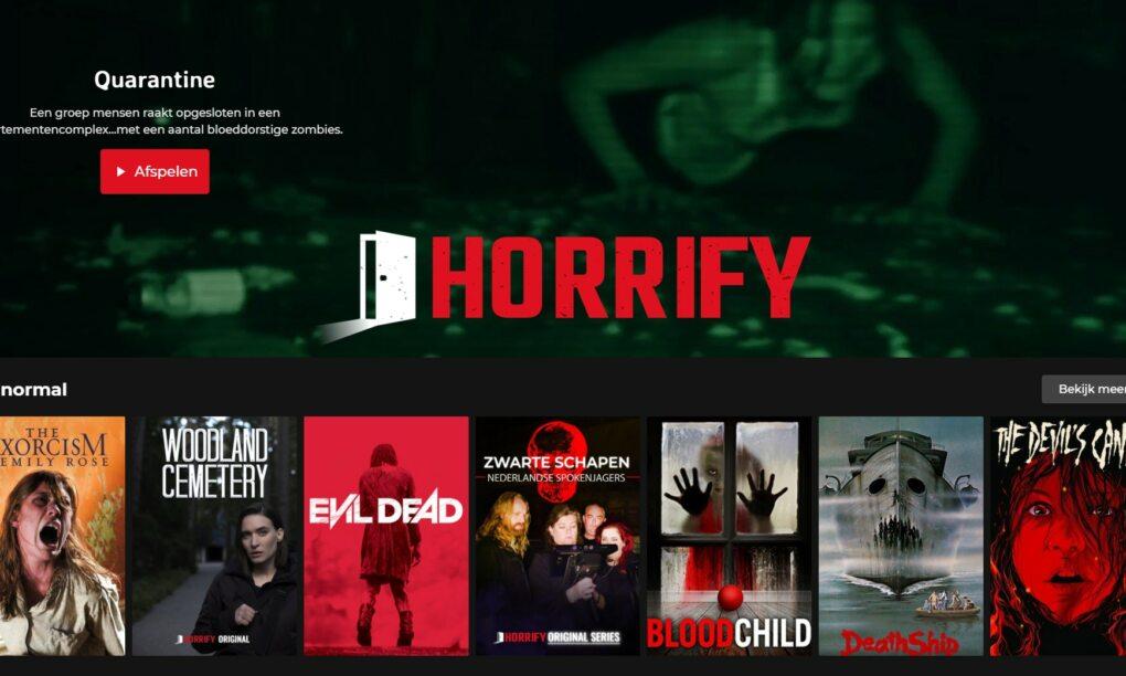Horrify de engste nieuwe streamingdienst van Nederland