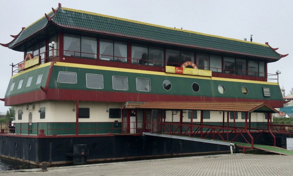 Via Marktplaats aangeboden Drijvend Chinees restaurant