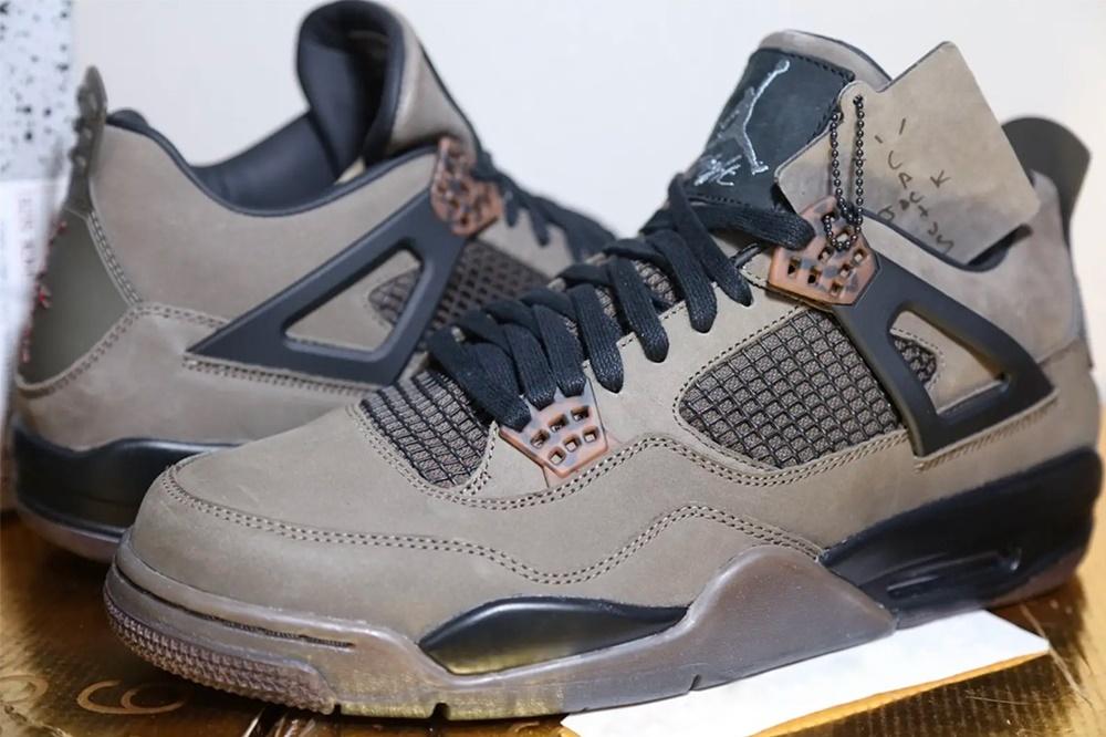 Duurste Nike Sneakers, Travis Scott x Air Jordan 4 Olive, Stockx