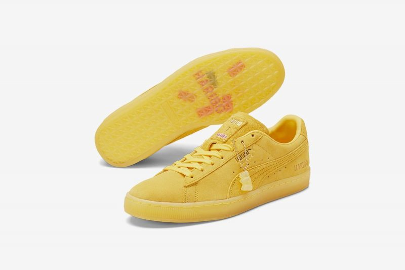 haribo puma sneakers geel