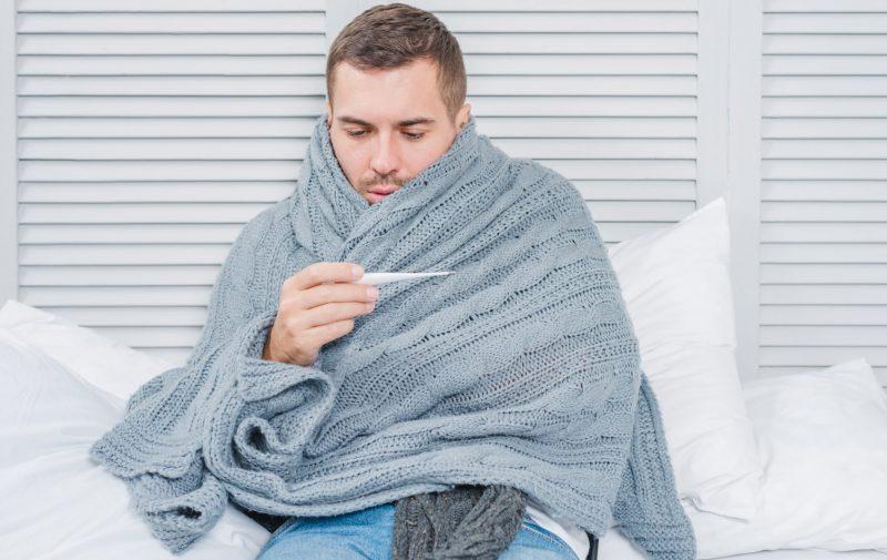 mannen zieker griep