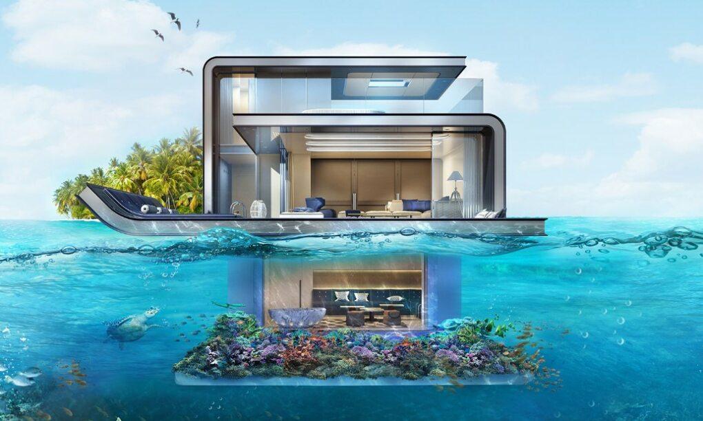 seahorse villa dubai onder water